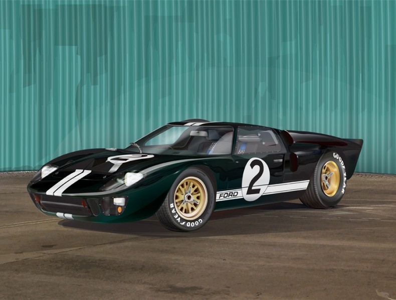 1966 Ford GT40 Illustration