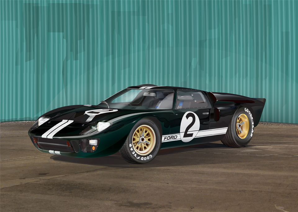 1966 Ford GT40 Vector Illustration