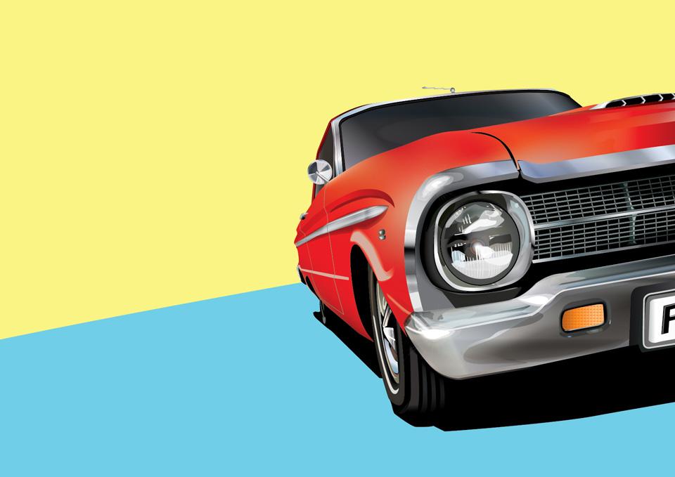 1964 XM Ford Falcon Illustration