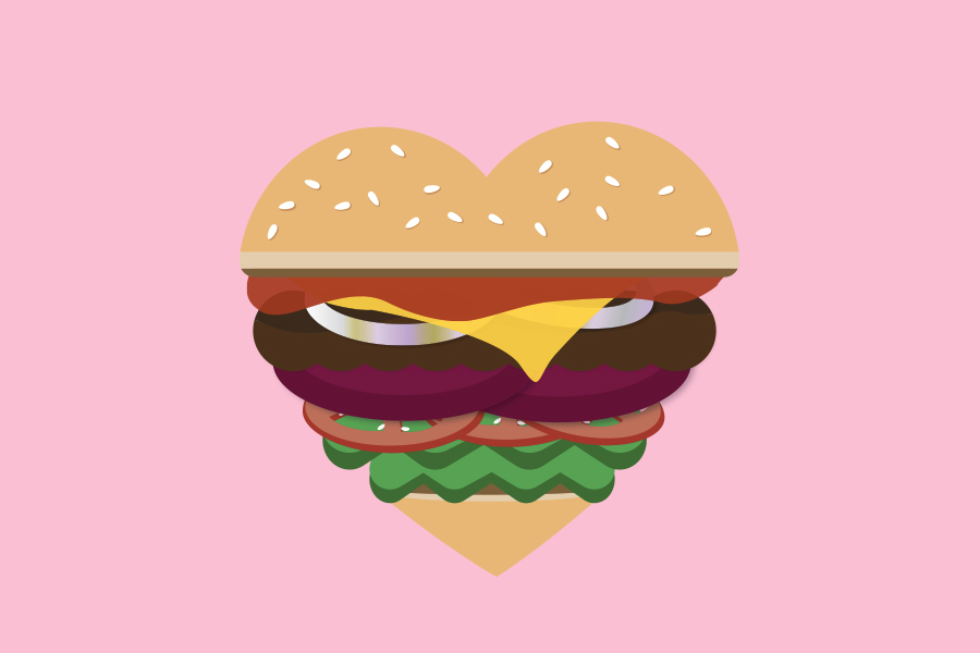 hamburger-heart